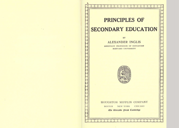 Principals of Secondary Education (1918)